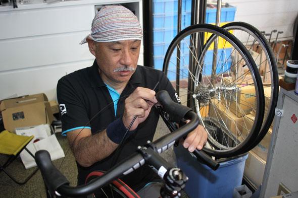 オーダー自転車 フレーム組上げ